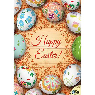 Happy Easter Eggs Large Garden Flag House Yard Banner Decor Single Sided 28 X40 Ebay
