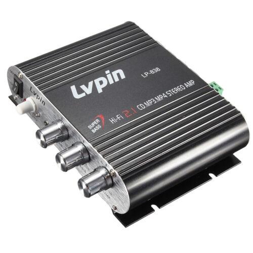 Mini HIFI Audio Stereo Power Amplifier Subwoofer MP3 Car Radio Channels F2T5