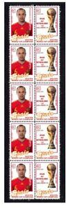 SPAIN-2010-WORLD-CUP-WIN-MINT-STAMP-STRIP-INIESTA
