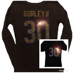 the best attitude 4ac53 aba4c Details about Womens Los Angeles Rams Todd Gurley Bling Sparkle Jersey  Shirt SUPER BOWL