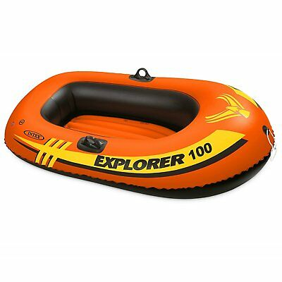 Intex Explorer 100 Inflatable Boat For One Person Comfort Rigidity Pool Or Lake