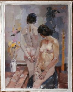 "Quality art Repro oil painting on canvas Impressionism nudes with vase 30""x40"""