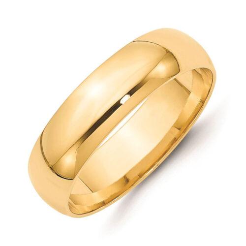 14K Yellow Gold Band Plain Solid 2mm 3mm 4mm 5mm Comfort Fit Men Women Wedding