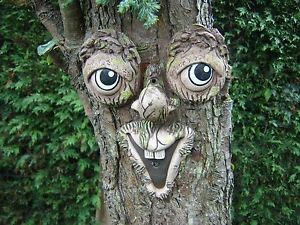 Image Is Loading Tree Face Gift Ideas Garden Decoration Sculpture Statue