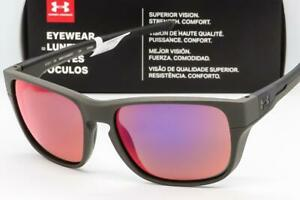 33bdbe60987 NEW UA UNDER ARMOUR PULSE SUNGLASSES Satin Carbon frame   Infrared ...
