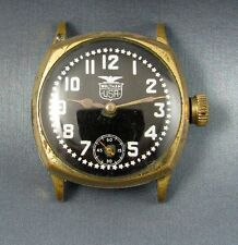 Vintage Waltham WW1 Era Military Style Pershing Dial Mens Watch RARE Needs Work