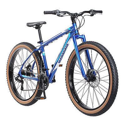"""27.5"""" Mongoose Men's Rader Mountain Bike Disc Brakes, Blue"""