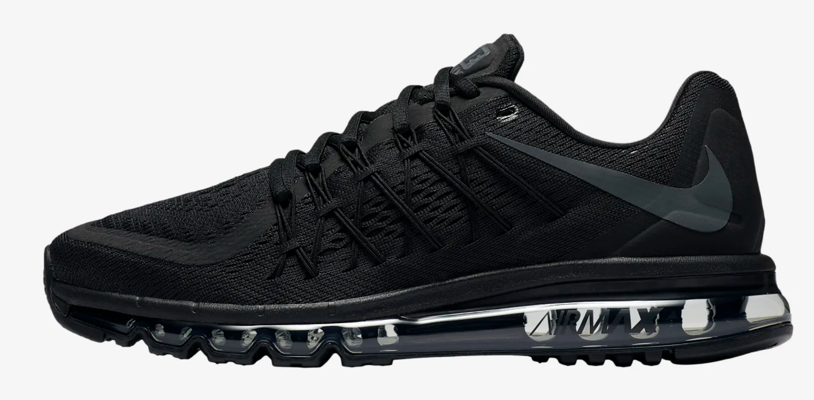 Nike Air Max 2015  Black Black Anthracite  Men's shoes Limited Stock UK 8.5