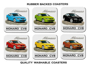 HOLDEN-MONARO-CV8-SET-OF-6-QUALITY-RUBBER-DRINK-COASTERS