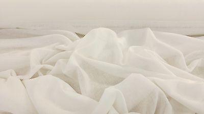 "Premium 100% Cotton Muslin Ivory Craft Curtain Fabric 150cm/59"" Wide"