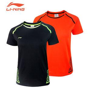 2017 Li Ning men's Outdoor sports Tops tennis/badminton Clothes T shirts 3075