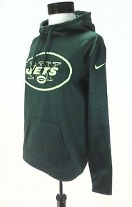 Nike NY JETS Hoodie Therma Pullover Football 842988 Green Dri-Fit ... 03debf712