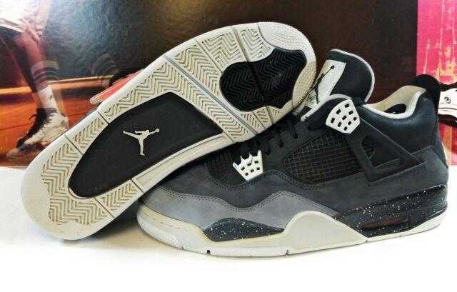 bf14de7a0ba ... where can i buy pre owned mens nike air jordan retro 4 black cool grey  fear