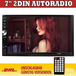 "7"" Autoradio Stereo Touch Bluetooth MP5 MP3 Player Doppel 2Din USB TF FM AUX IN"