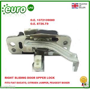 Jumper boxer O.E 1372139080 O.E 8726.T9 Puerta corredera cerradura superior derecho Ducato