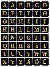 HERMA Buchstaben Sticker A-Z Folie geprägt schwarz//gold 2 Blatt à 48 Sticker