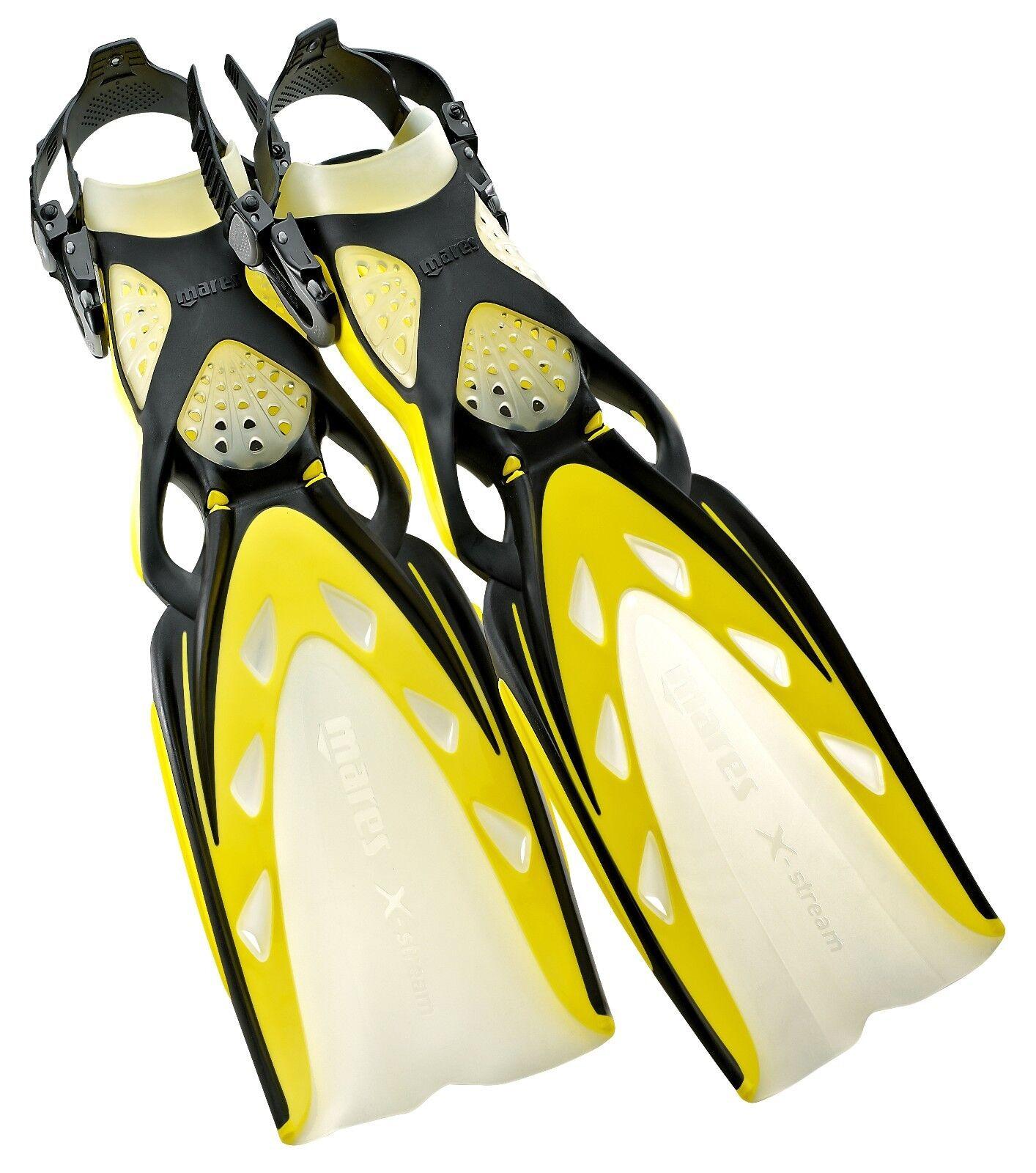 Mares X -Stream Justerbara Fins, Mares Open Heel Scuba Diving Fine