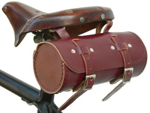 Real Leather Bicycle Saddle Bag Utility Tool Box kit bike vintage handmade om