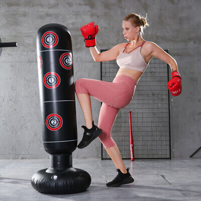 Inflatable Boxing Bag Training Exercise Punching Stand Fitness Equipment Gift