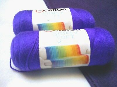 NEW Caron Simply Soft Yarn Knit Crochet 6 oz Skeins Acrylic BLACKBERRY 2