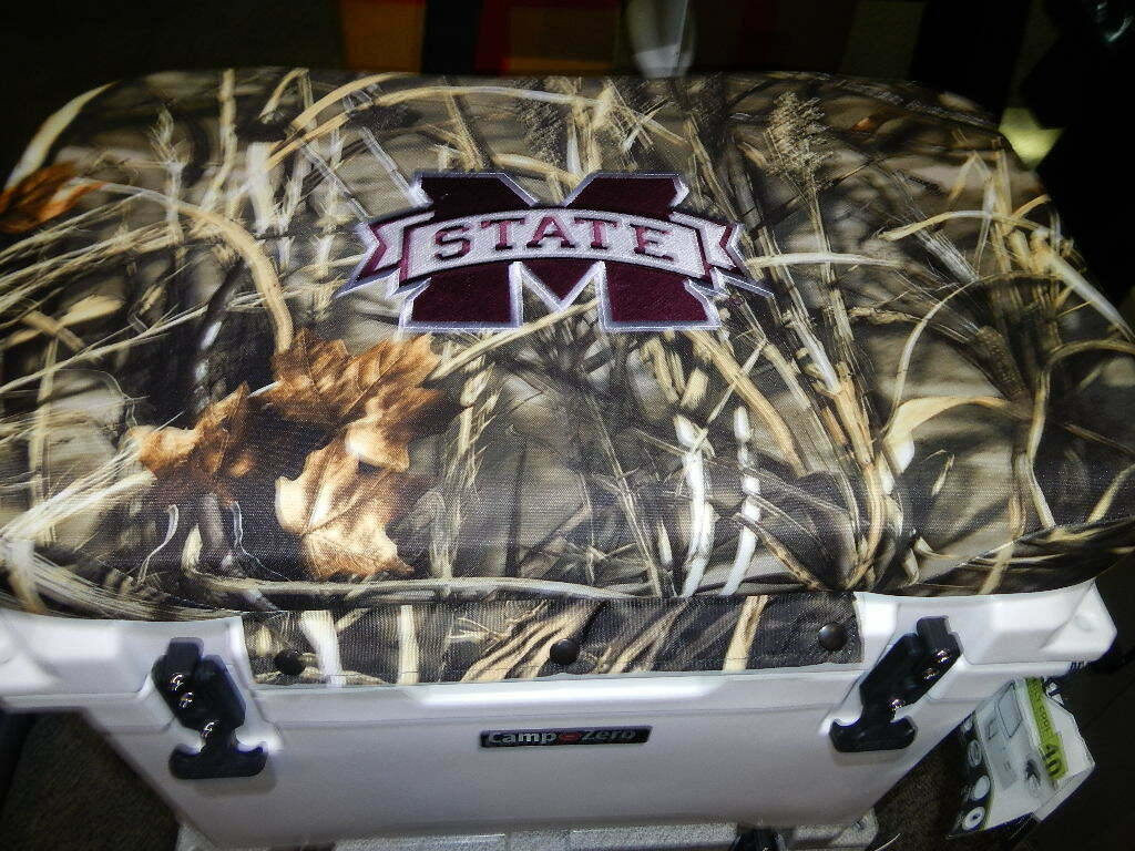 Yeti 45 qt &  Others Cooler CUSHION, CAMO. Mississippi State NEW FREE SHIP  very popular