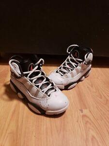 Details about Nike 323431 009 Air Jordan 6 Rings Girls White Pink Black Sneaker Shoes Sz 12C