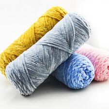 100G//Ball Skein Chunky Chenille Soft Crochet Velvet Knitting Wool Yarn CA