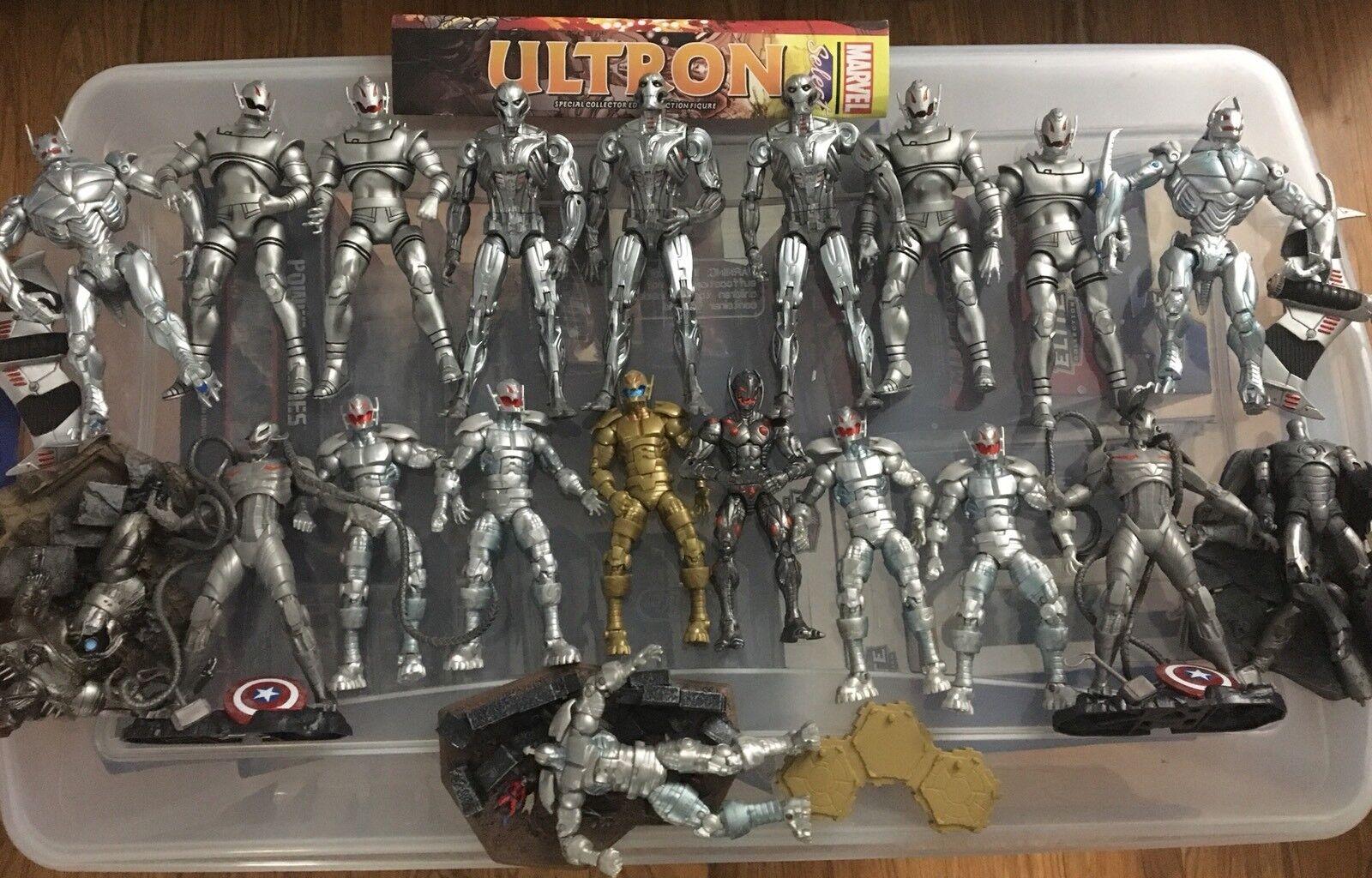 ULTIMATE ULTRON ARMY Marvel Legends LOT Diamond Select Baf MCU Toybiz Hasbro