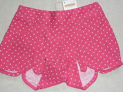 Gymboree ISLAND LILY Pink Green Yellow White Orange Striped Ruffle Shorts NWT