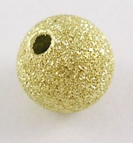 Top Quality BRASS 40 x 8mm Stardust Gold Plated Glitter Beads Sparkle