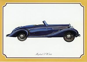 Poster-DINA4-Oldtimer-Maybach-SW-Modell-1934-Alter-unbekannt-classic-car