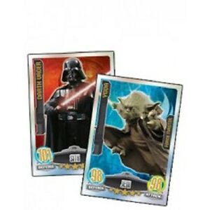 TOPPS-STAR-WARS-MOVIE-FORCE-ATTAX-SERIES-1-RAINBOW-FOIL-amp-MIRROR-FOIL-CARDS
