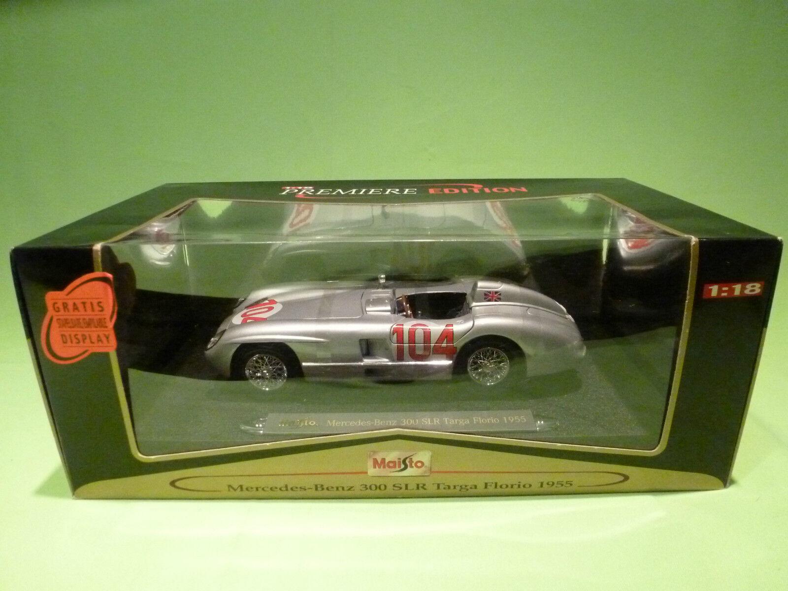 MAISTO 1 18 MERCEDES BENZ 300 SLR TARGA FLORIO 1955  - RARE SELTEN - GOOD IN BOX