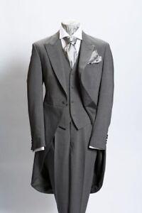 Matrimonio In Frac : Custom made gray mens suits groom tuxedo formal wedding