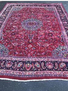 9 5 X12 5 Genuine Handmade 100 Wool Woven Persian Oriental Area Rug 1106 Ebay
