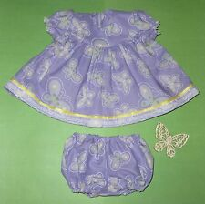 "Handmade Doll Clothes for 23"" - 24"" Baby Dolls - ""Lavender Cutie!!"" Dress Set"