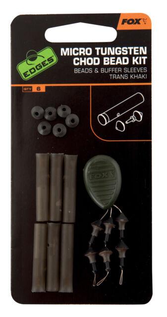 buffer sleeves 6 Stück Khaki Fox Edges Tungsten Chod Bead Kit x 6 beads