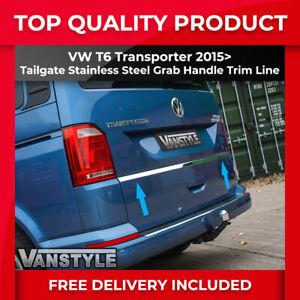 VW T6 TRANSPORTER 2015+ 1PCS TAILGATE GRAB HANDLE TRIM LINE S.STEEL CHROME