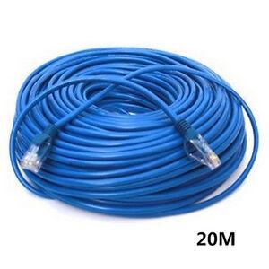 66ft patch cable rj45 cat5e ethernet internet lan network patch cord blue 20m ebay. Black Bedroom Furniture Sets. Home Design Ideas