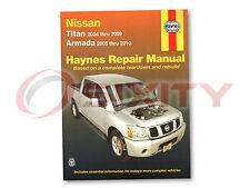 Nissan Titan Haynes Repair Manual XE SE LE PRO-4X Shop Service Garage Book oc
