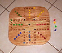 18  Wood Oak Aggravation Marble Game Board 2-4 Player