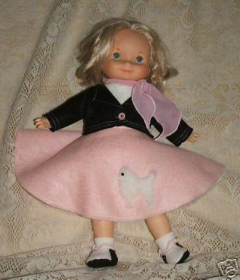 """NG Creations Sewing Pattern #12 Poodle Skirt Outfit fits 16/"""" My Friend Doll"""