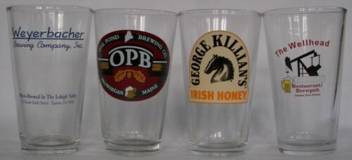 brewery pint glasses National micro beer your choice pick 4 of 12