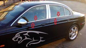 2001 2009 Jaguar X Type Saloon Chrome Windows Frame Trim 4