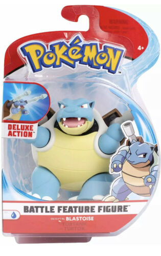 Blastoise Pokemon Battle Feature Figurine Pack 4.5 - inch scale