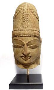 TETE DE SHIVA SCULPTEE EN GRES - INDE MEDIEVALE 1100 AD - INDIAN SANDSTONE HEAD iGWMfQLF-07210443-542164925