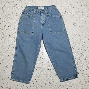 L-A-Blues-Women-039-s-Vintage-Capri-Denim-Jeans-Sz-6-Blue-100-Cotton
