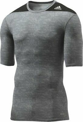 ADIDAS TECHFIT CLIMALITE maglia termica grigia calcio basic layer corsa tg. S   eBay
