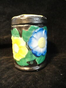 Empress-of-Japan-1920-039-s-Handpainted-Japanese-Boudoir-Jar-Flowers