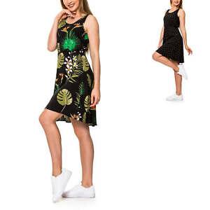 Only Damen Kleid Sommerkleid Freizeitkleid Print ...